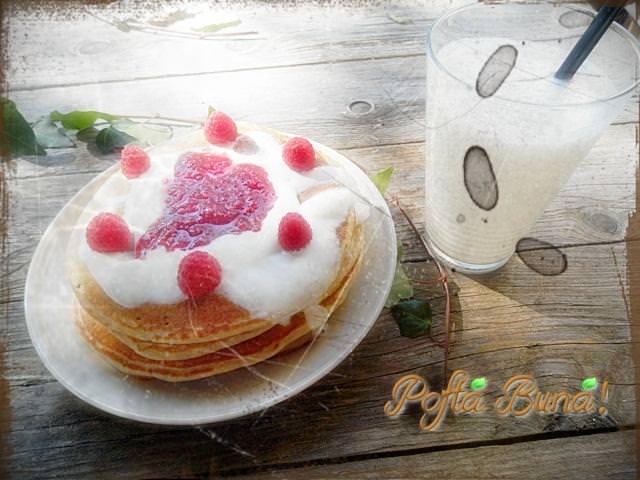 pancakes pofta buna gina bradea. - American pancakes - clatite americane