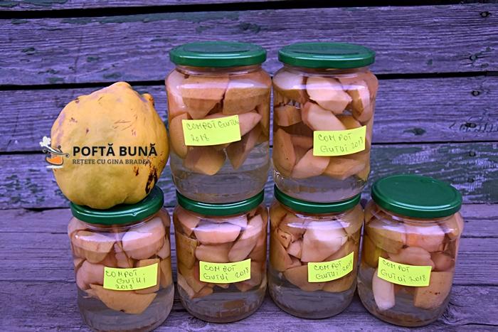 Compot de gutui pentru iarna reteta cveche simpla fara conservanti 2 - Compot de gutui fara conservanti