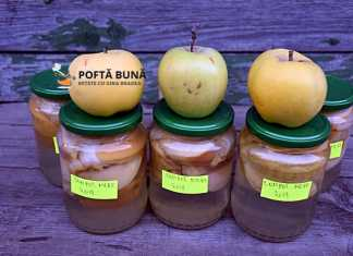 Compot natural de mere pentru iarna, reteta fara conservanti