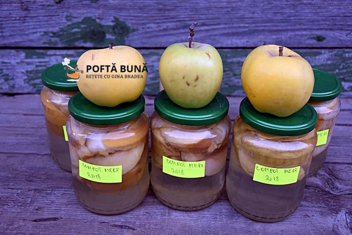 Compot de mere pentru iarna, reteta fara conservanti