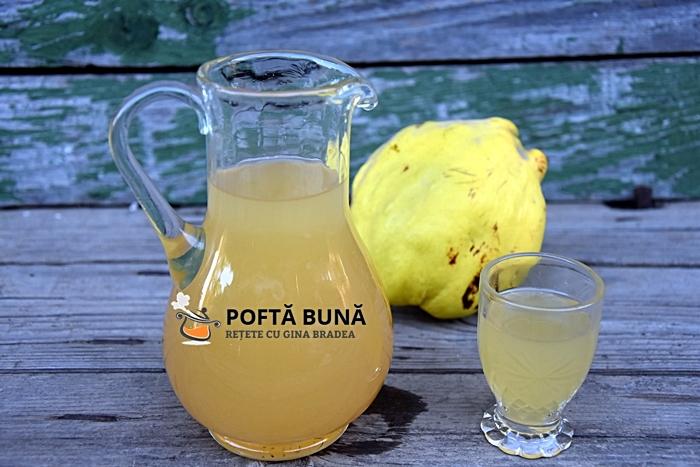 Lichior natural de gutui gutuiata de casa cu zahar sau miere - Lichior de gutui