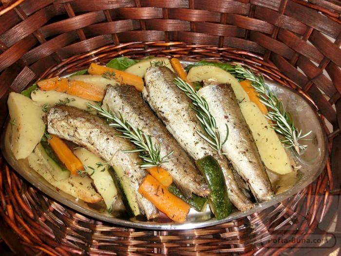 CIMG0946 e1402670253301 - Merlucius, cod (peste alb) rasol cu legume