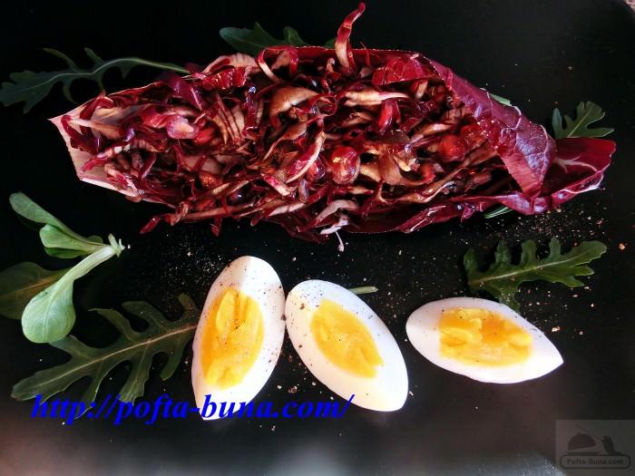 pofta buna gina bradea salata de radicchio cu rodie otet balsamic.jpeg 3 e1402924812986 - Salata de radicchio cu seminte de rodie si crema de otet balsamic