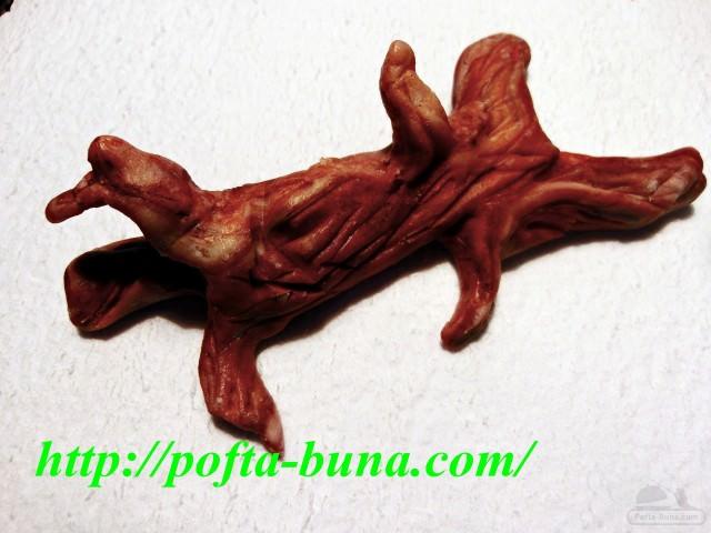 gina bradea pofta buna tutorial trunchi de copac buturuga pasta de zahar 2 e1407868325776 - Tutorial buturuga - Trunchi de copac din pasta de zahar