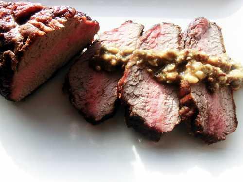 Carne de vita coapta incet pe gratar