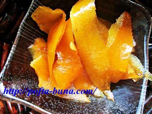 reteta de coji de portocale confiate