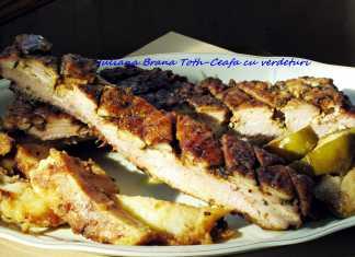 Friptura de porc cu verdeturi mediteraneene 012