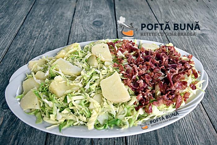 Salata ungureasca de post sau cu afumatura reteta ieftina - Salata ungureasca (economica si rapida)