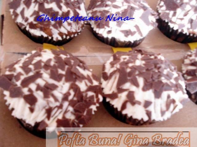 briose1 - Briose (muffins) cu iaurt si fulgi de ciocolata