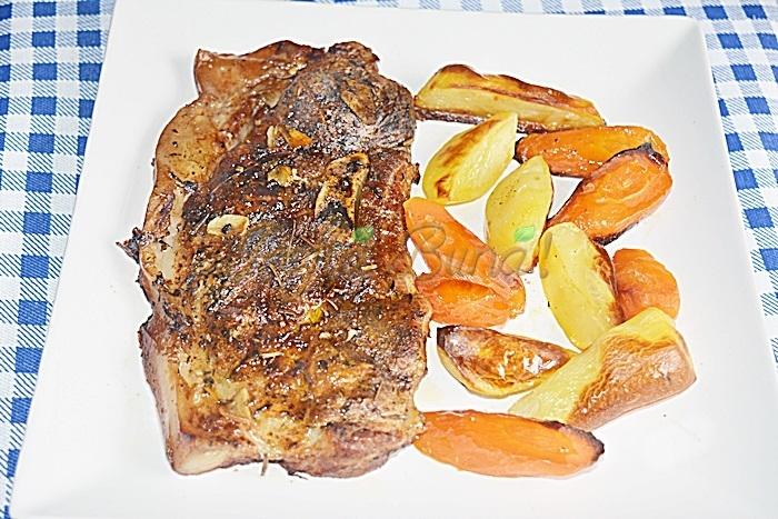 Jambon friptura pulpa de porc la tava reteta pofta buna cu gina bradea - Jambon-pulpa de porc la tava