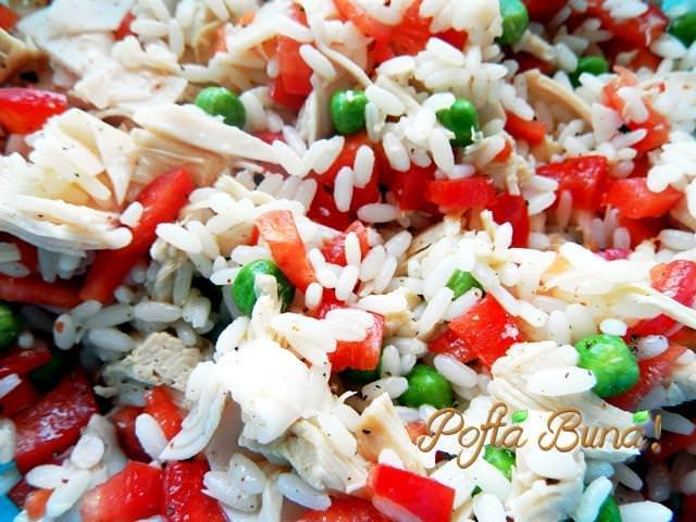 Salata de orez legume piept de pui pofta buna gina bradea 1 - Salata de orez cu ton si creveti