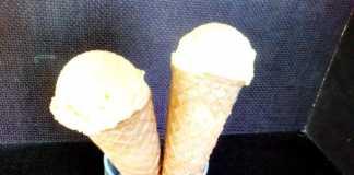 Inghetata de vanilie - vafe