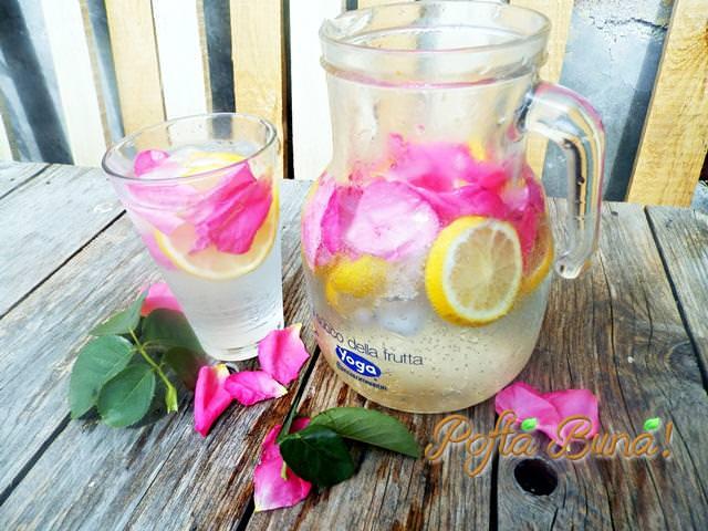 limonada cu trandafiri si miere pofta buna gina bradea. - Limonada cu trandafiri
