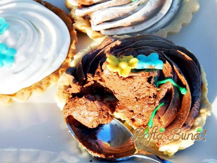 minitarte cu ciocolata pofta buna gina bradea 3 - Minitarte cu ciocolata
