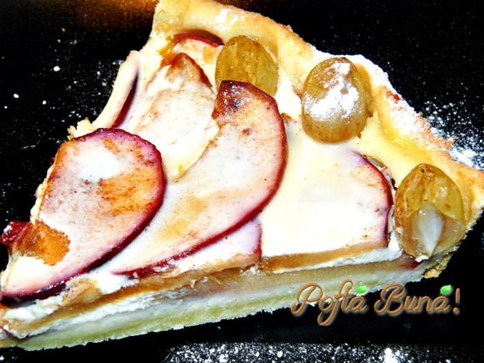 tarta cu mere pere si sos vanilat pofta buna gina bradea 9 - Tarta cu mere, pere si sos de vanilie
