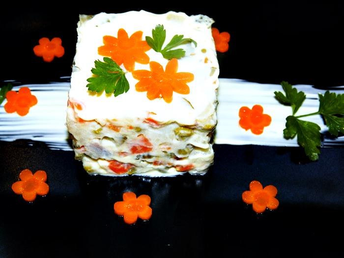 salata boeuf pofta buna gina bradea - Salata boeuf reteta veche, ornamente si ingrediente de baza