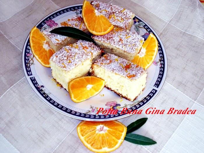 prajitura cu portocale pofta buna gina bradea - Prajitura cu portocale