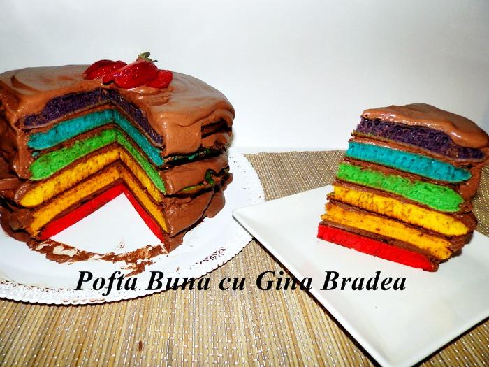 Tort curcubeu romantic