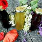 Sirop-colorant natural din maci, liliac sau soc