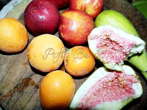 Prajitura pandispan cu fructe