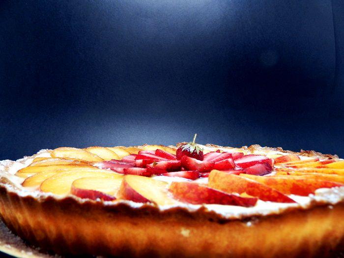 Tarta cu aluat fraged crema de vanilie si fructe pofta buna cu gina bradea 5 - Tarta cu aluat fraged, crema de vanilie si fructe