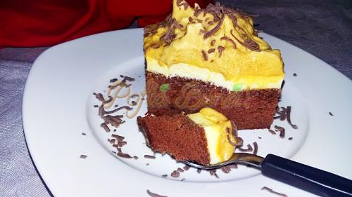 Prăjitură cu spuma de zahar ars-Iuliana Dinu