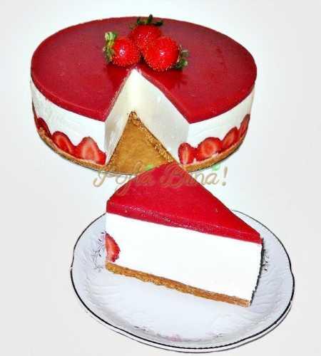 Cheesecake cu capsuni- Porceanu Gica