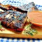 Costite de porc marinate, la gratar