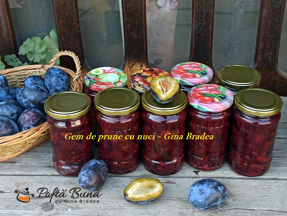 Gem de prune cu nuca, reteta simpla