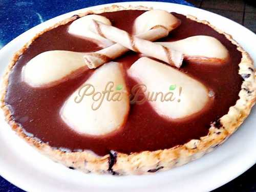 Tarta cu pere si ciocolata pofta buna cu gina bradea 6 500x375 - Tarta cu pere si ciocolata