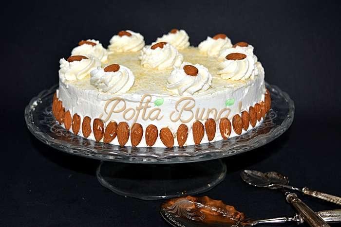 Tort fin cu morcov migdale si crema de branza pofta buna cu gina bradea 12 - Tort fin cu morcov, migdale si crema de branza