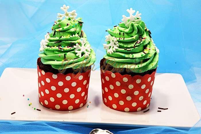 Cupcakes braduti fara fara faina pofta buna cu gina bradea 11 - Cupcakes braduti