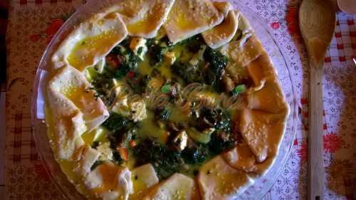 Klementina Stepan - Tarta cu friptura si spanac