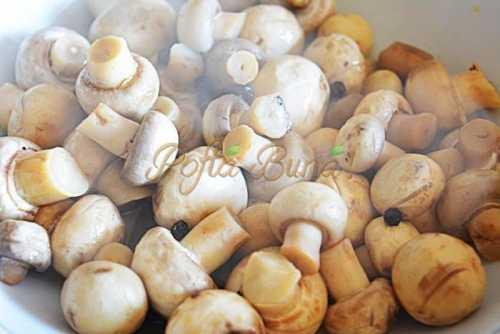 Ciuperci marinate pentru iarna