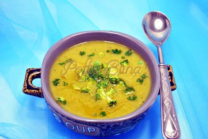 Supa crema de brocoli pofta buna cu gina bradea 6 - Supa crema de broccoli