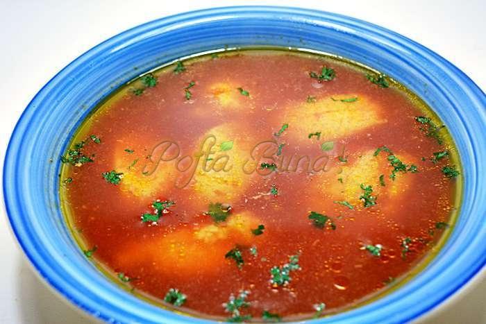 """Supa de rosii cu galuste pofta buna cu gina bradea - Supa de rosii cu galuste """"speriate"""""""