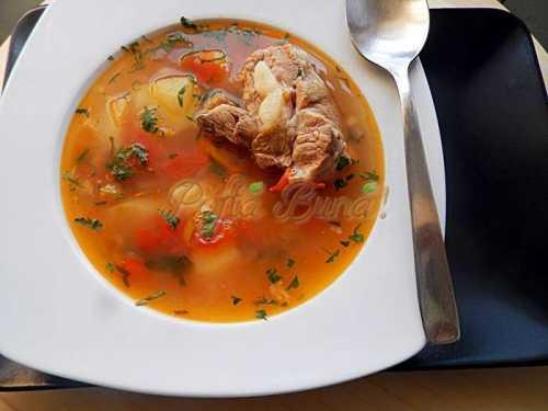 Bors din oase de porc pofta buna cu gina bradea 5 500x375 - Index retete culinare (categorii)
