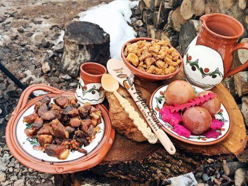 Carne la garnita prajita in untura cavarma retetatraditionala gina bradea 500x376 - Carne la garnita friptura in untura - reteta traditionala