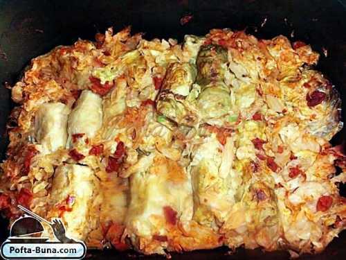 Sarmale moldovenesti cu varza pofta buna cu gina bradea 7 500x375 - Sarmale in foi de varza cu carne tocata si orez