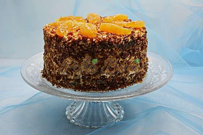Tort cu nuca si portocale pofta buna cu gina bradea 2 - Tort cu nuca si portocale