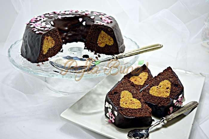 Chec fin cu ciocolata si inimioare pofta buna cu gina bradea 2 - Chec fin cu ciocolata si inimioare