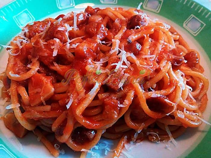 Paste all amatriciana pofta buna cu gina bradea 3 - Paste all'amatriciana
