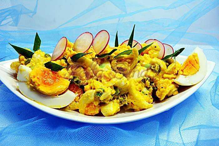 Salata de oua reteta simpla pofta buna cu gina bradea 4 700x467 - Salata de oua, reteta simpla