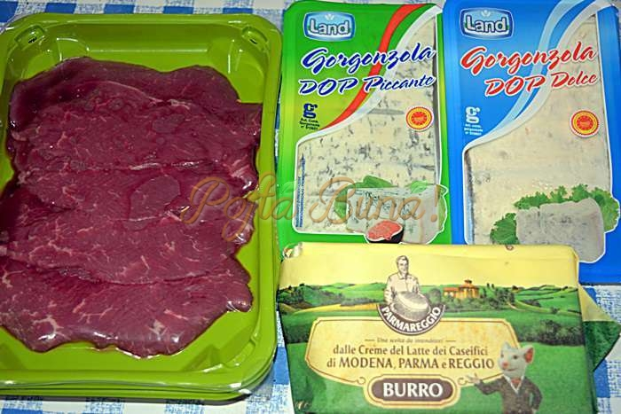 Vitel la tigaie cu Gorgonzola si nuci