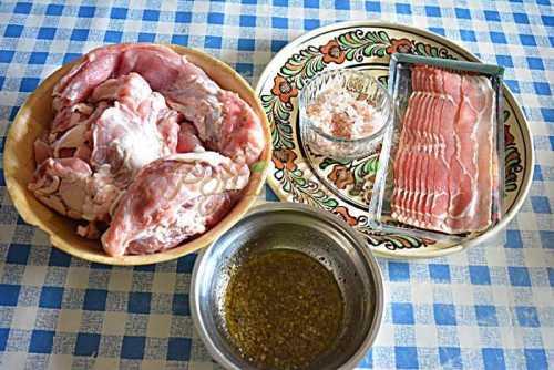 Muschiulet de porc in bacon, la gratar