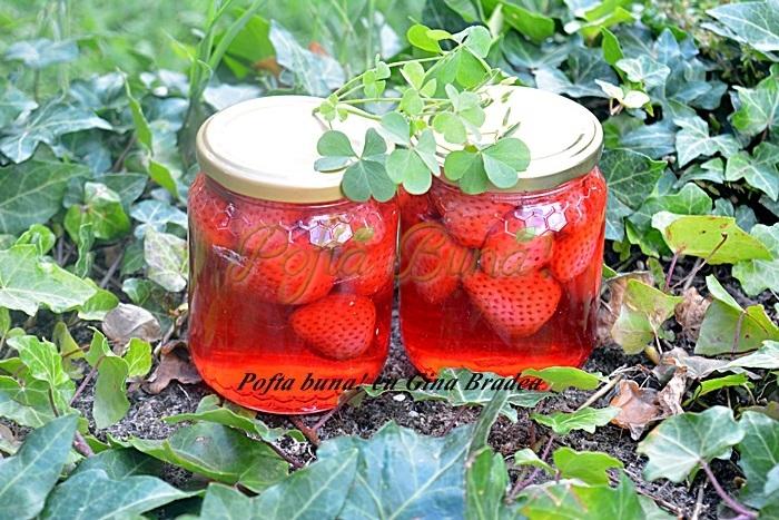 Compot natural de capsune pofta buna cu gina bradea - Compot de capsuni reteta simpla