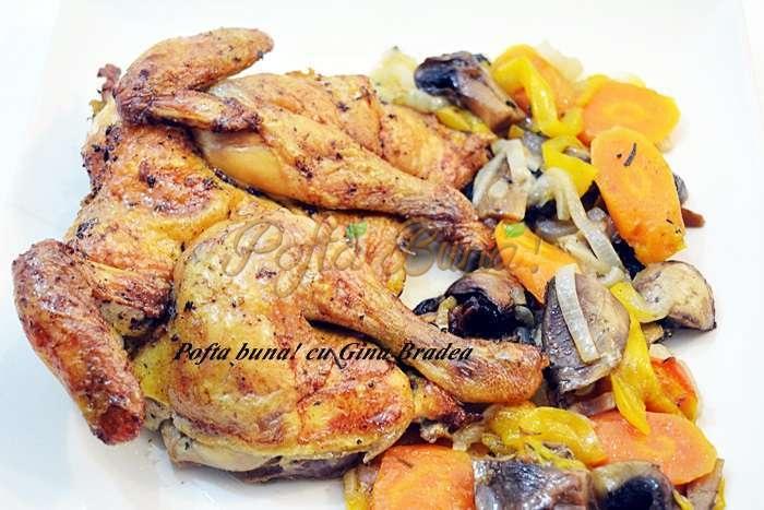 Friptura de pui cu legume la cuptor pofta buna cu gina bradea 2 - Friptura de pui cu legume la cuptor