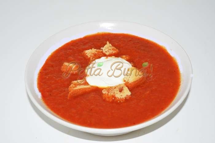 Supa crema de ardei copti pofta buna cu gina bradea 4 - Supa crema de ardei copti