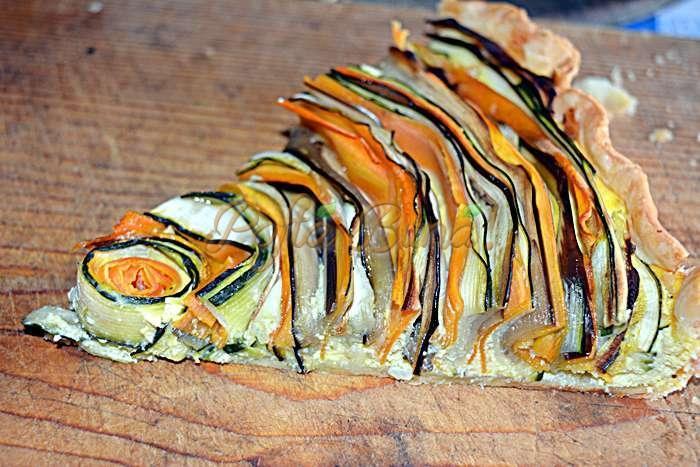 Tarta curcubeu cu vinete, dovlecei, morcov si branza