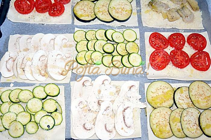 Aperitive din foietaj cu legume